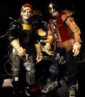 BILL AND TED'S BOGUS JOURNEY, good Bill and Ted robots, 1991, (c) Orion/courtesy Everett Collection
